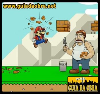 Super Mario Bros e os pedreiros