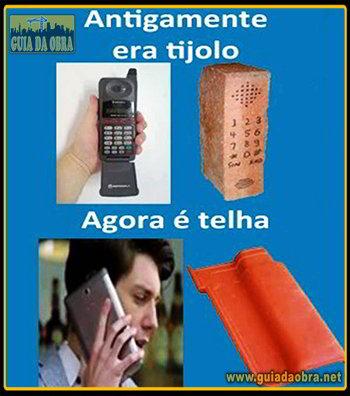 Telefone tijolo x Smartphone telha
